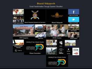 Bharati Vidyapeeth University's Website Screenshot