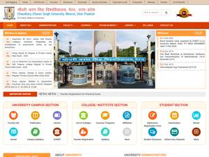 Chaudhary Charan Singh University's Website Screenshot