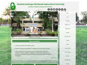 Sardarkrushinagar Dantiwada Agricultural University's Website Screenshot