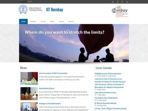 Indian Institute of Technology Bombay's Website Screenshot