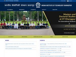 Indian Institute of Technology Kharagpur's Website Screenshot