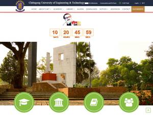 Chittagong University of Engineering and Technology's Website Screenshot