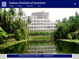 Indian Statistical Institute's Website Screenshot