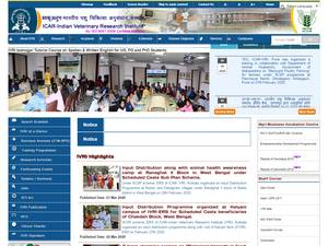 Indian Veterinary Research Institute's Website Screenshot