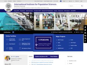 International Institute for Population Sciences Screenshot
