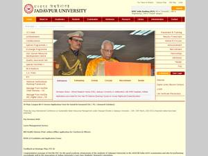Jadavpur University's Website Screenshot