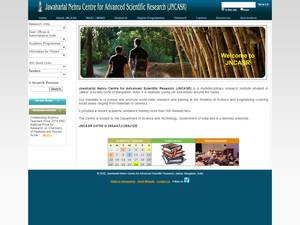 Jawaharlal Nehru Centre for Advanced Scientific Research's Website Screenshot