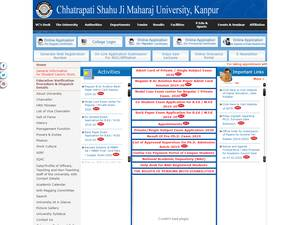 Chhatrapati Shahu Ji Maharaj University's Website Screenshot