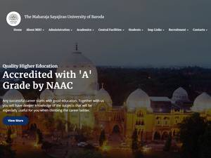 The Maharaja Sayajirao University of Baroda Screenshot