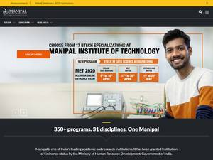 Manipal Academy of Higher Education's Website Screenshot