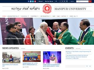 Manipur University's Website Screenshot