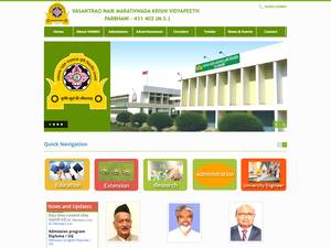Vasantrao Naik Marathwada Krishi Vidyapeeth's Website Screenshot