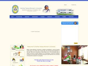 Mother Teresa Women's University's Website Screenshot