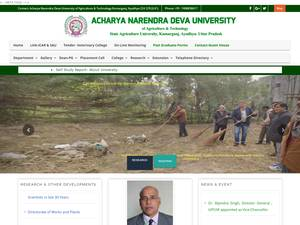 Narendra Dev University of Agriculture and Technology's Website Screenshot