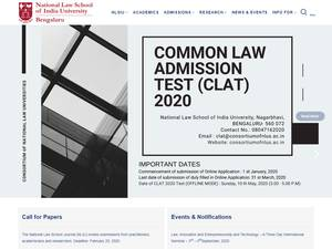 National Law School of India University's Website Screenshot