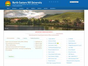 North Eastern Hill University Screenshot