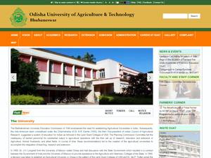 Orissa University of Agriculture and Technology Screenshot