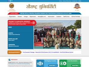 Saurashtra University's Website Screenshot
