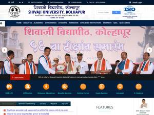Shivaji University's Website Screenshot