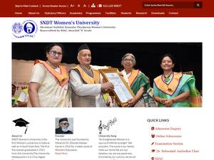 Shreemati Nathibai Damodar Thackersey Women's University's Website Screenshot
