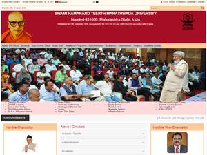 Swami Ramanand Teerth Marathwada University's Website Screenshot