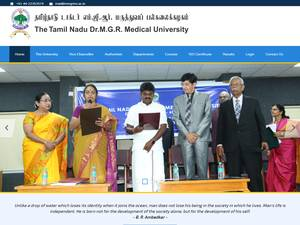 Tamil Nadu Dr. M.G.R.Medical University's Website Screenshot