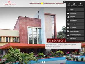 Thapar Institute of Engineering and Technology's Website Screenshot
