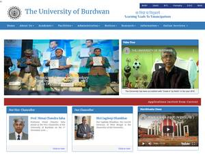 University of Burdwan's Website Screenshot