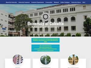 University of Calcutta's Website Screenshot