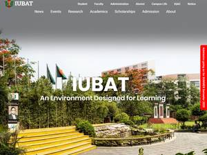 IUBAT University at iubat.edu Screenshot