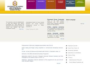 University of Jammu's Website Screenshot