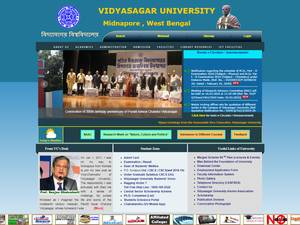 Vidyasagar University's Website Screenshot