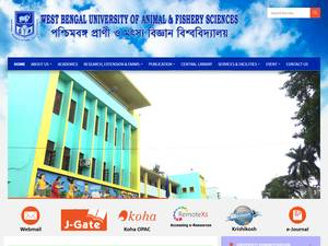 West Bengal University of Animal and Fishery Sciences's Website Screenshot