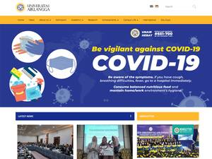 Universitas Airlangga's Website Screenshot