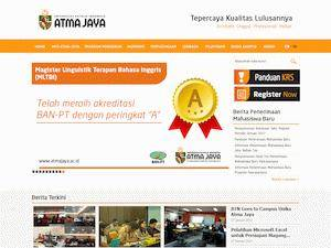Universitas Katolik Indonesia Atma Jaya's Website Screenshot