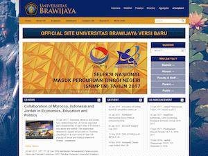 Universitas Brawijaya's Website Screenshot