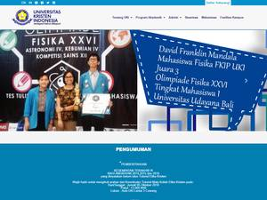 Universitas Kristen Indonesia's Website Screenshot