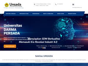 Universitas Darma Persada's Website Screenshot