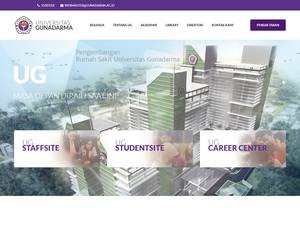 Universitas Gunadarma's Website Screenshot
