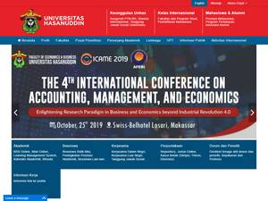 Universitas Hasanuddin's Website Screenshot