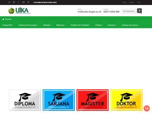 Universitas Ibn Khaldun's Website Screenshot