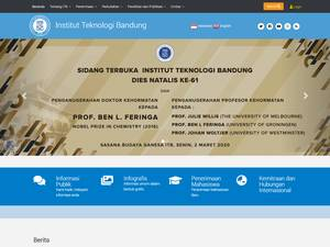 Institut Teknologi Bandung's Website Screenshot