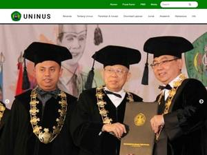 Universitas Islam Nusantara's Website Screenshot