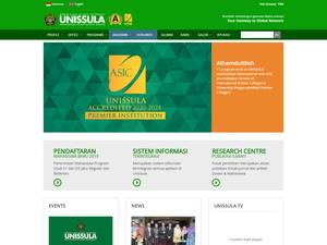 Universitas Islam Sultan Agung's Website Screenshot