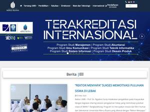 Mercu Buana University Screenshot