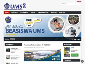 Universitas Muhammadiyah Surakarta's Website Screenshot