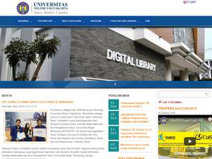 Universitas Negeri Yogyakarta's Website Screenshot