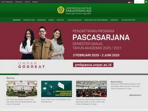 Parahyangan Catholic University Screenshot