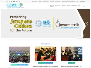 Universitas Sebelas Maret's Website Screenshot