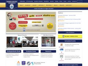 North South University's Website Screenshot
